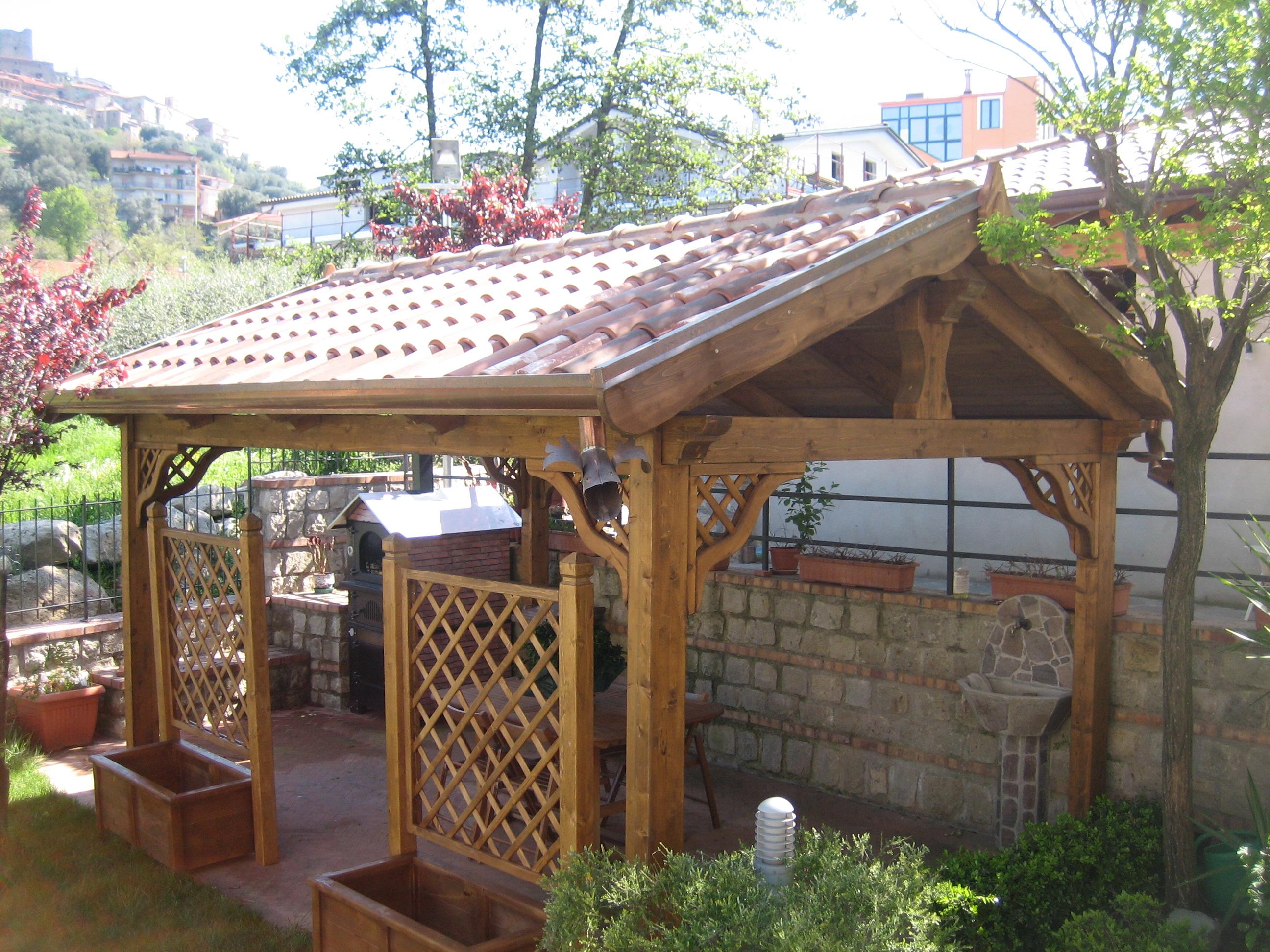 gazebi in legno pino costruzioni casal velino sa loc