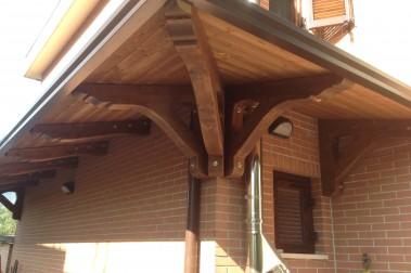 Tettoia in legno 23 dettaglio