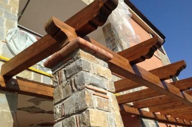 Tettoia in legno 24 dettaglio