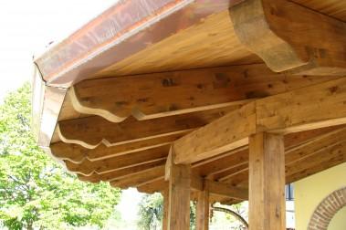 Tettoia in legno 49 dettaglio