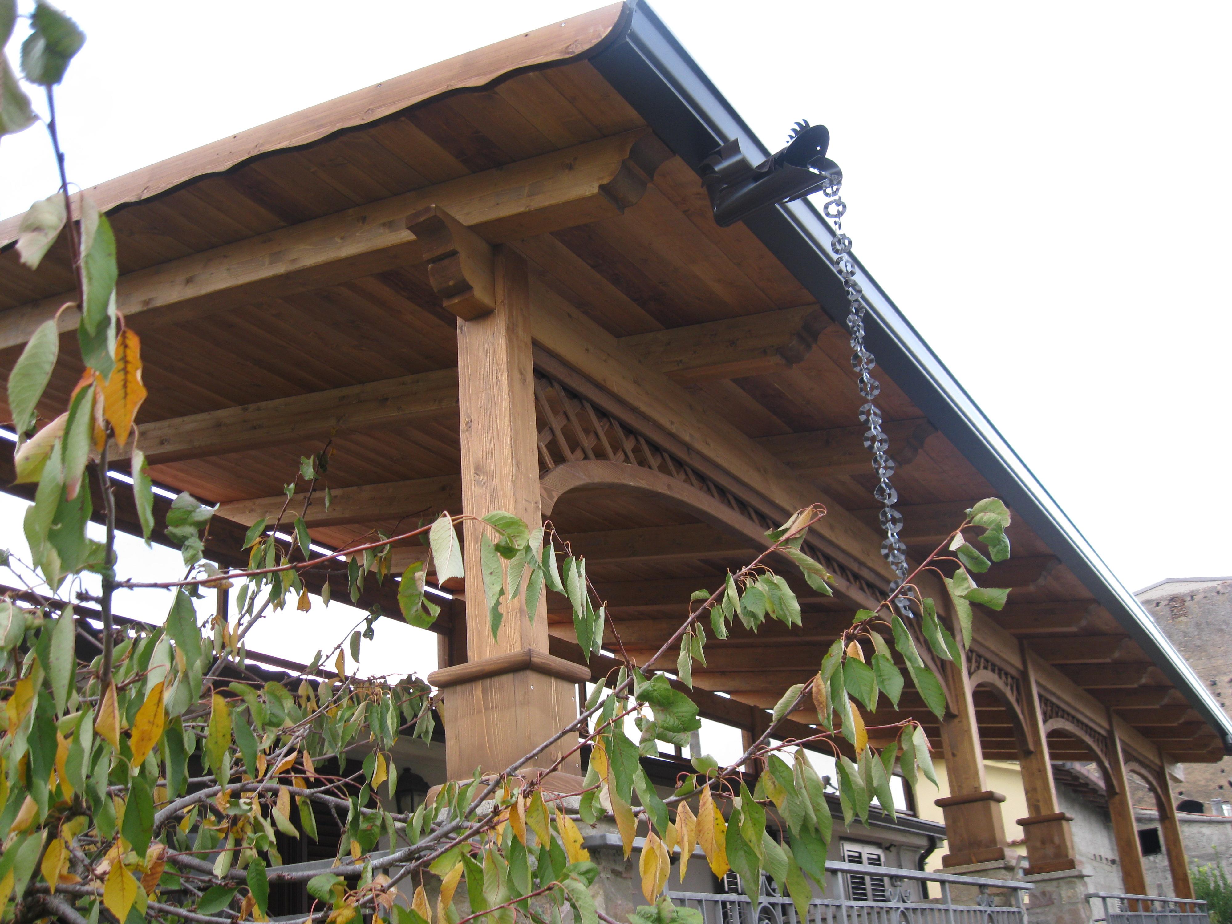 Tettoia in legno 7 pino costruzioni group srls for Sezione tetto giardino