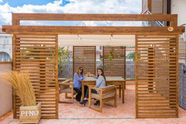 Recinzione Sedie Tavolo in legno